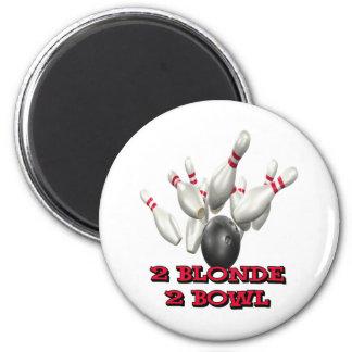 2 Blonde 2 Bowl Refrigerator Magnet
