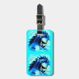 2 blue broncos bag tag