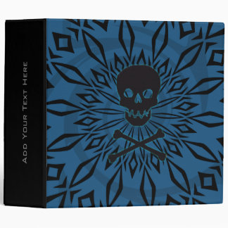 "2"" Blue Rage Skull Binder"