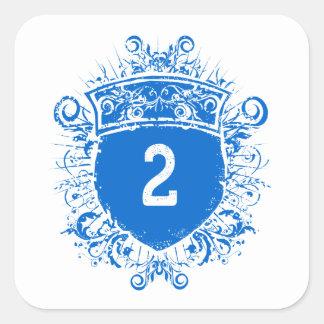 #2 Blue Shield Square Sticker