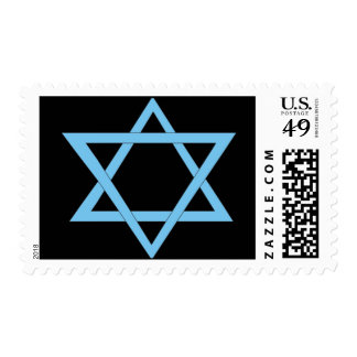 2 Blue Triangles Postage Stamps