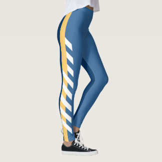 2 Blues'n'Gold Stripe Leggings