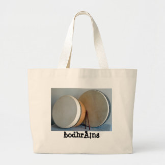 2 bodhrans and 2 tippers large tote bag