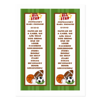 2 Book Marks All Star Green Postcard