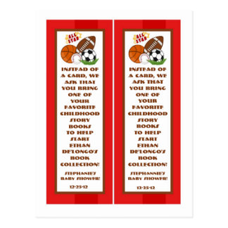 2 Book Marks All Star Red Postcard