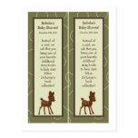 2 Book Marks Forrest Animal Owl Deer Bird Porcupin Post Card