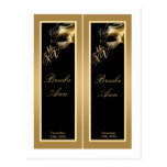2 Book Marks Mis XV Gold Black Party Postcard