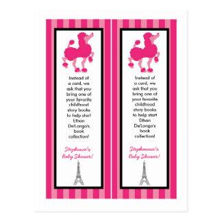 2 Book Marks Pink Poodle Paris Eiffel Tower Postcard