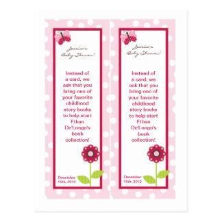 2 Bookmarks Berry Garden Lady Bug Flower Pink Postcard
