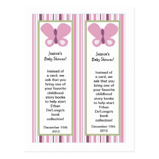 2 Bookmarks Sugar Plum Butterfly Postcard
