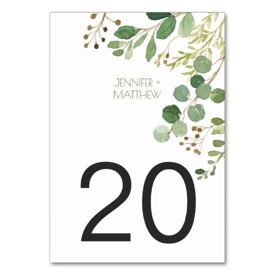 #2 Botanical Dream Rustic Greenery Table Cards