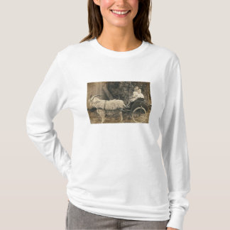2 boys riding cart pulled by goat shirt