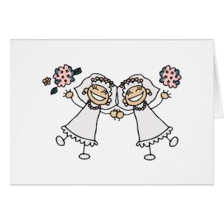2 Brides Greeting Card