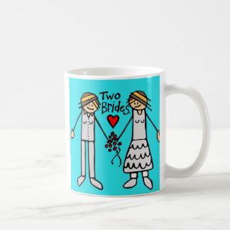 2 brides-color classic white coffee mug