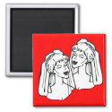 2 Brides Gay Marriage magnet