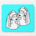 2 Brides Gay Marriage mousepad