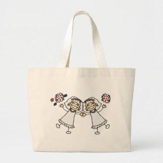 2 Brides Large Tote Bag