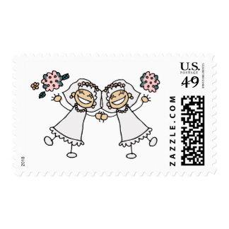 2 Brides Postage Stamp