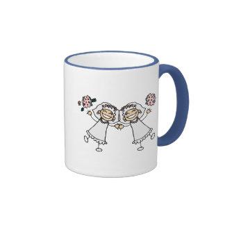 2 Brides Ringer Coffee Mug