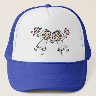 2 Brides Trucker Hat