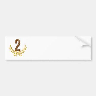 #2 Brown & Gold Wreath Bumper Sticker