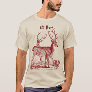 2 Bucks Vintage Reindeer's Fun Shirt