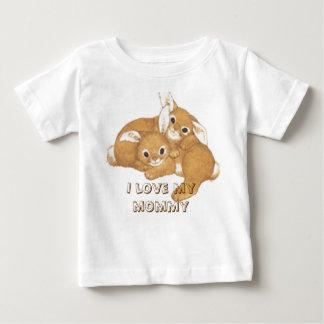 2-bunnies, I love my mommy Baby T-Shirt