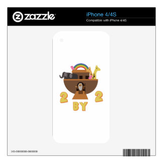 2 By 2 iPhone 4S Decal