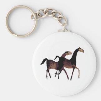 2 caballos llavero redondo tipo pin