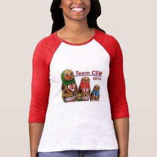 2 camisa del equipo CSW del color