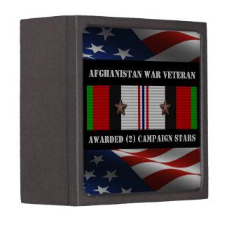 2 CAMPAIGN STARS AFGHANISTAN WAR VETERAN PREMIUM GIFT BOXES