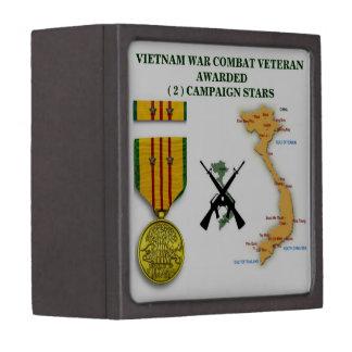 2 CAMPAIGN STARS VIETNAM WAR VETERAN PREMIUM GIFT BOXES