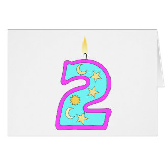 2 (Candle) Greeting Card