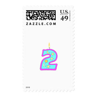 2 (Candle) Postage Stamp