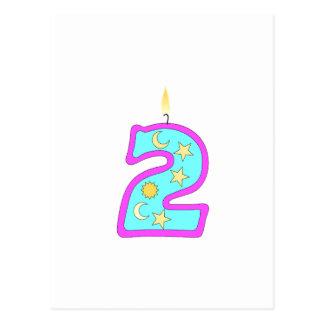 2 (Candle) Postcard