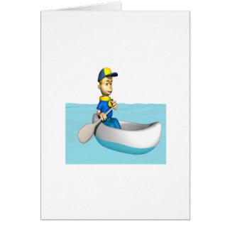 2 Canoeing Tarjeta De Felicitación