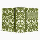 """2"""" carpeta verde oliva elegante del avery del nego"""