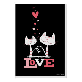 2 Cats in Love Poster Print