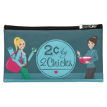 2 Cents Blue Cosmetic Bag