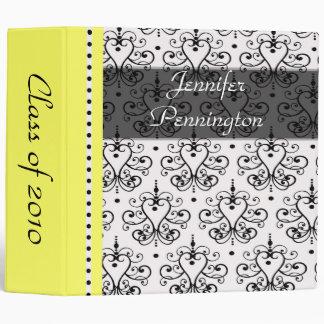 """2"""" Chandelier damask graduation memories binder"""
