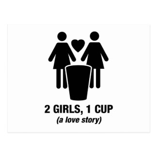 2 chicas una taza - 2girls1cup - camiseta divertid postal