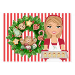 #2 Christmas Kitchen Card - SRF Large Business Cards (Pack Of 100)