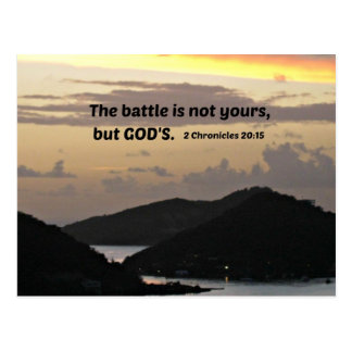 2 Chronicles 20:1 The battle is not yours.... Postcard