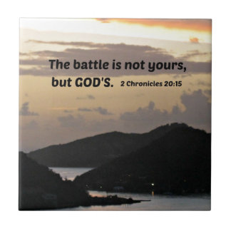 2 Chronicles 20:1 The battle is not yours.... Tile