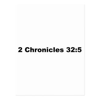 2 Chronicles 32:5 Postcard