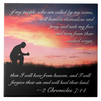 2 Chronicles 7:14 Bible Verse If My People Pray Ceramic Tile