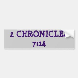 2 Chronicles 7:14 Car Bumper Sticker