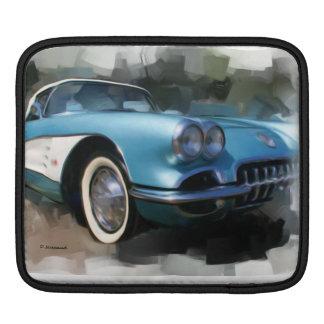 2 classic corvettes iPad sleeves