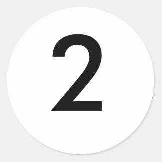 2 CLASSIC ROUND STICKER