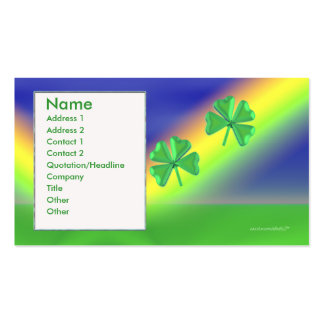2 Clovers - Business Double-Sided Standard Business Cards (Pack Of 100)